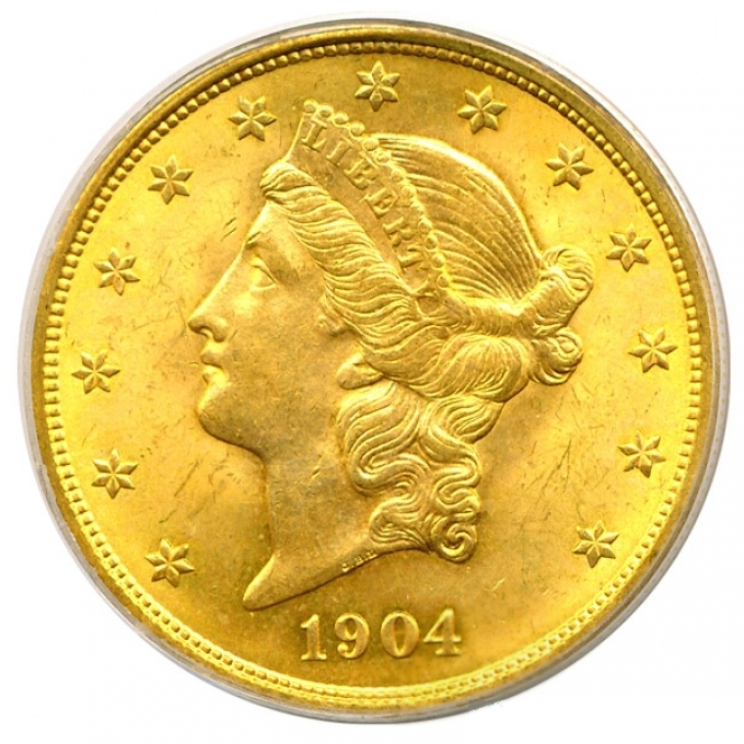 1904 $20 Gold Liberty MS-64